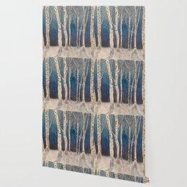 Birch Grove At Midnight Wallpaper