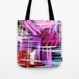 oil pastels abstract pattern Tote Bag
