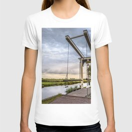 Canal and Bridge in Netherlands at Sunset T-shirt