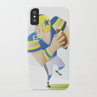football iPhone & iPod Cases featuring Football by Guixarades