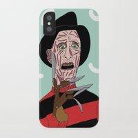freddy krueger iPhone & iPod Cases featuring Freddy Krueger by Elena Éper