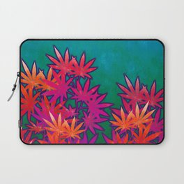 Turquoise Cannabis Field Laptop Sleeve