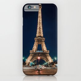 Eiffet Tower at Night iPhone Case