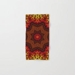 Fiery Fractal Mandala 2 Hand & Bath Towel