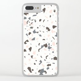Multi-Colored Terrazzo Pattern - Pink, Brown, Cream, Gray Clear iPhone Case
