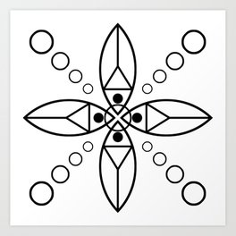Ancient Religious Symbols Art Print