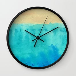 Beach Flow abstract 1 Wall Clock