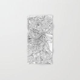 Dublin White Map Hand & Bath Towel