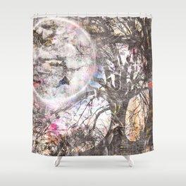 Haggard Moon Shower Curtain
