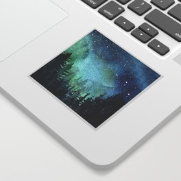Galaxy Watercolor Aurora Borealis Painting Sticker