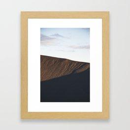 Hverfjall crater at midnight Framed Art Print