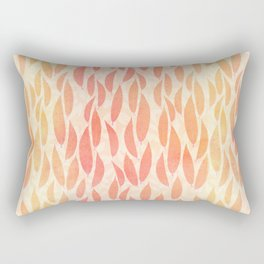 Watercolour Leaves Rectangular Pillow