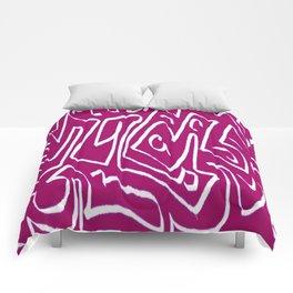 Laberinto violet white Comforters