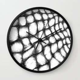 black and white basket weave Wall Clock