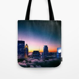 Minneapolis Above the Clouds Tote Bag