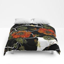 modern nasturtium Comforters