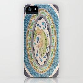 Salmon of Knowledge Mandala Celtic Knot Painting iPhone Case