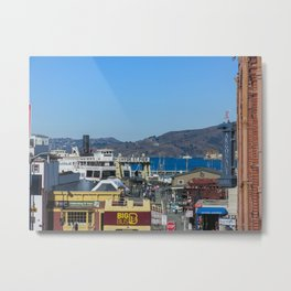 San Francisco`s Hyde St. Pier Metal Print