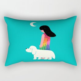 As Time Passes By Rectangular Pillow