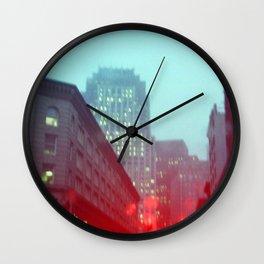 Foggy Boston Landscape  Wall Clock
