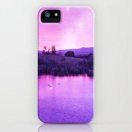 Purple Duck Sunset iPhone Case