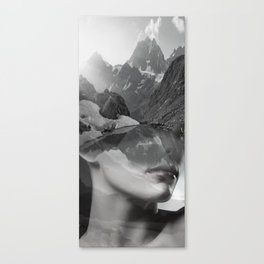 Mountain lady Canvas Print