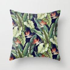 Night tropical garden II Throw Pillow