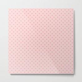 Blush Pink Stars on Light Blush Pink Metal Print
