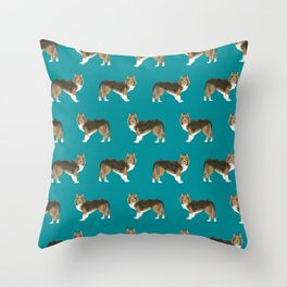 Sheltie shetland sheep dog pattern gift perfect for the sheep dog owner dog breed patterns Throw Pillow