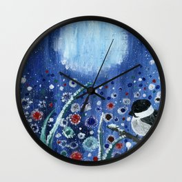 Field of Frost Wall Clock