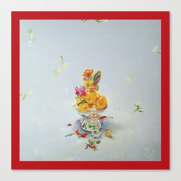 Year of the Rooster (with border) Canvas Print