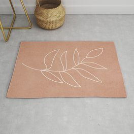 Engraved Leaf Line Rug