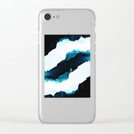 Teal Isolation Clear iPhone Case