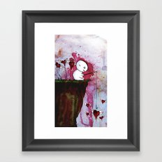 Fishing for hearts Framed Art Print