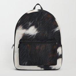 Cowhide Texture Backpack