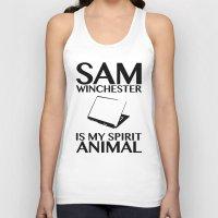 sam winchester Tank Tops featuring Sam Winchester is my spirit animal by ElectricShotgun