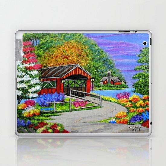 Covered bridge to town  Laptop & iPad Skin
