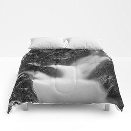 Shelving Rock Stream - Black & White Comforters
