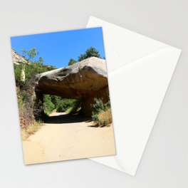 Tunnel Rock Generals Hwy in California Stationery Cards