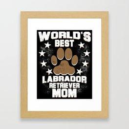 World's Best Labrador Retriever Mom Framed Art Print