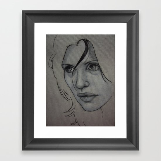 Charcoal experiment #3 Framed Art Print