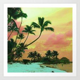 Bora Bora Tahiti Sunset 2 Art Print