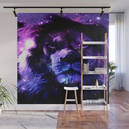 Lion leo purple Wall Mural
