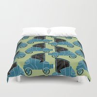 cars Duvet Covers featuring Cars by Cliodhna Ztoical