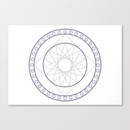 Anime Magic Circle 16 Canvas Print