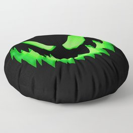 Evil Green ghost Floor Pillow