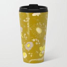 large flowers - mustards Travel Mug