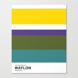 The Colors of - WAYLON SMITHERS - Simpsons Canvas Print