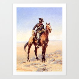 "Frederic Remington Western Art ""Buffalo Soldier"" Art Print"