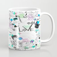 cartoon Mugs featuring Cartoon Pattern by Eduardo Doreni